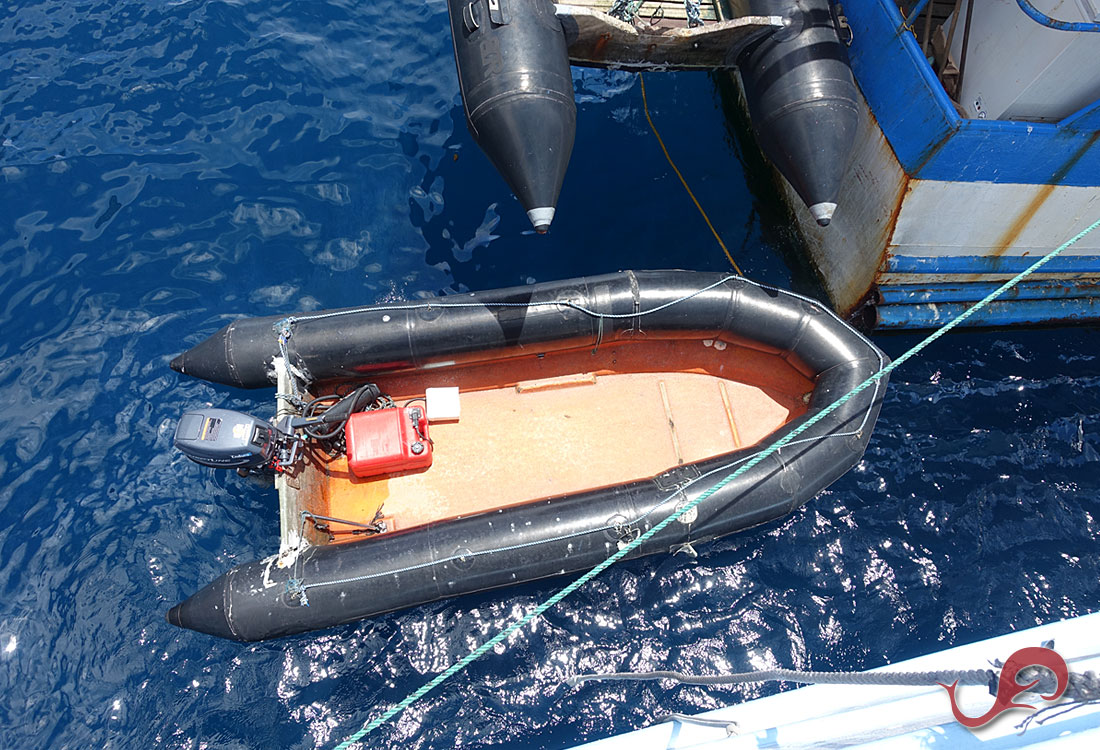 Maria Patricia's dive skiff used to look for lost divers
